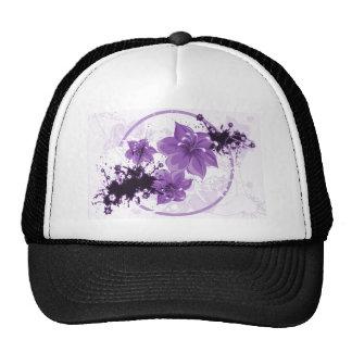 3 Pretty Flowers - Purple Cap
