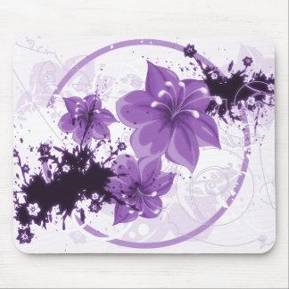 3 Pretty Flowers - Purple Mouse Pad