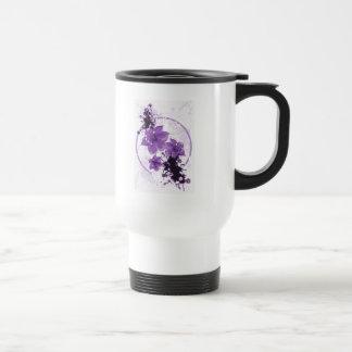 3 Pretty Flowers - Purple Stainless Steel Travel Mug