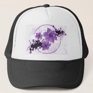 3 Pretty Flowers - Purple Trucker Hat