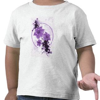3 Pretty Flowers - Purple T Shirt