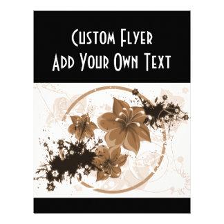 3 Pretty Flowers - Sepia Custom Flyer