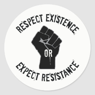 "3"" RE/EX Resistance Round Stickers"