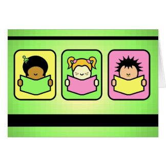 3 Readers Greeting Card