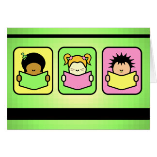 3 Readers Greeting Cards