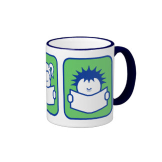 3 Readers Ringer Coffee Mug