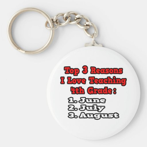 3 Reasons I Love Teaching 4th Grade Key Chain