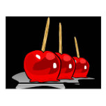 3 Red Candy Apples
