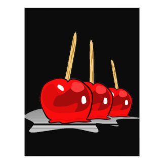 3 Red Candy Apples 21.5 Cm X 28 Cm Flyer