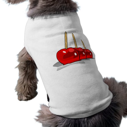 3 Red Candy Apples Sleeveless Dog Shirt
