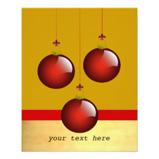 3 Red Ornaments Flyer