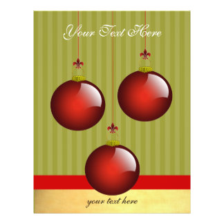 3 Red Ornaments Flyers