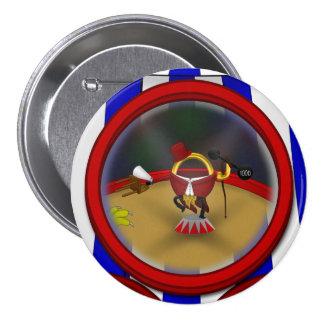 3 Ring Circus - Ringmaster 7.5 Cm Round Badge