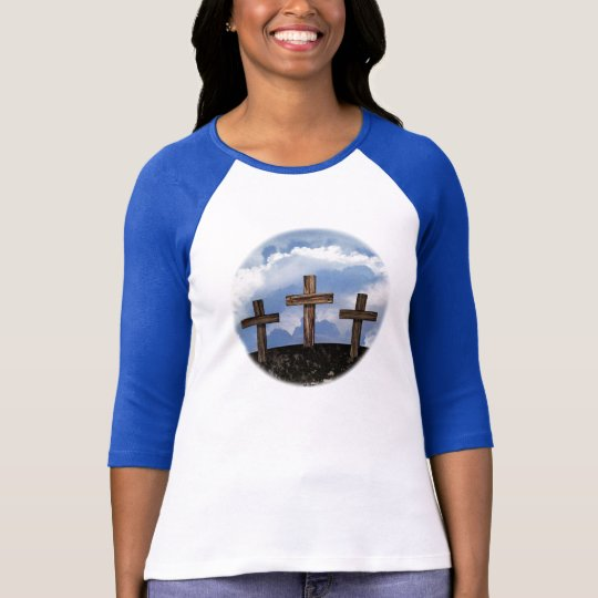 3 Rugged Crosses with Sky T-Shirt