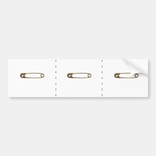 3 Safety Pin Bumperstickers Bumper Sticker