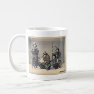 3 Samurai in Armor Vintage Photo Coffee Mug