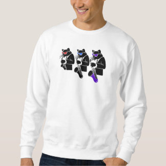 3 Sax Cats Sweatshirt