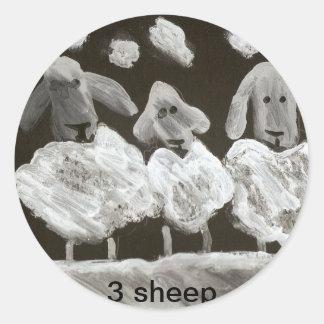 3 Sheep Sticker