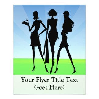 3 Shopping Women Friends 11.5 Cm X 14 Cm Flyer