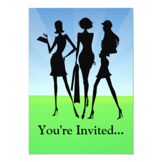 3 Shopping Women Friends Card
