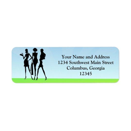 3 Shopping Women Friends Return Address Label