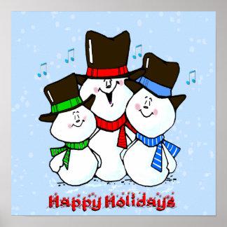 3 Singing Snowmen Poster