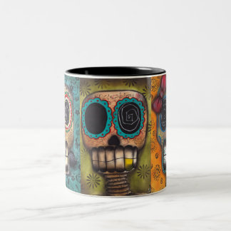 3 Skeletons Two-Tone Coffee Mug