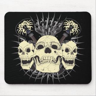 3 Skull Guitars Mouse Mat