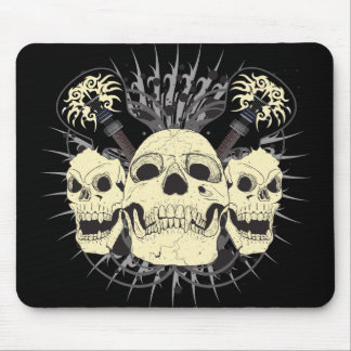 3 Skull Guitars Mouse Pad