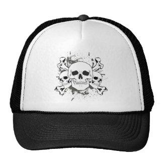 3 Skulls & Cross Bones Trucker Hat