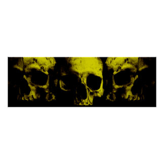 3 skulls poster