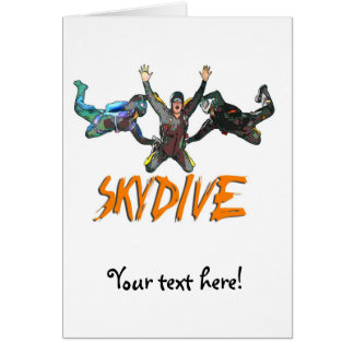 3 Skydivers - Orange Card