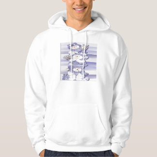 3 Snowmen - Basic Hooded Sweatshirt