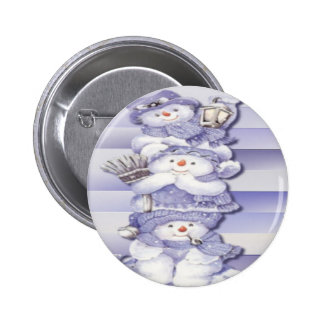3 Snowmen - Button