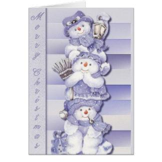 3 Snowmen - Greeting Card