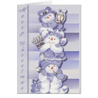 3 Snowmen - Note Card