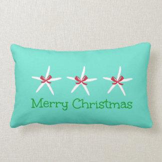 3 Starfish Merry Christmas Pillow