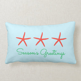 3 Starfish Season's Greetings Pillow