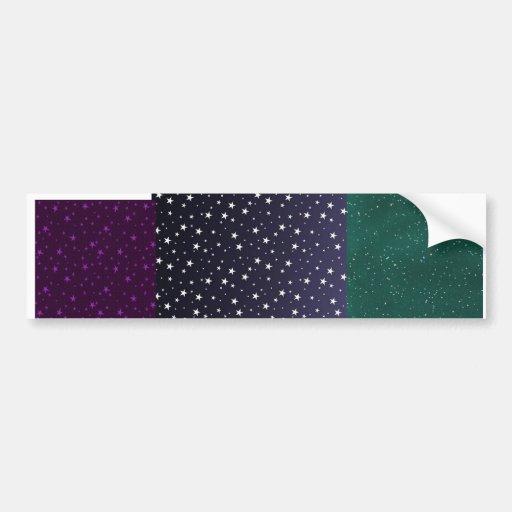 3 starry ecig skins in one! bumper stickers