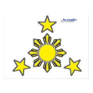 3 stars & a sun postcard