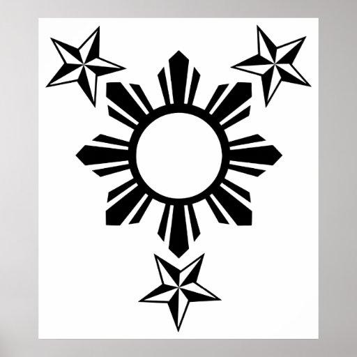 3 Stars and Sun Print