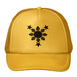 3 Stars and Sun Solid Caps Trucker Hat