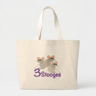3 Stooges Jumbo Tote Bag