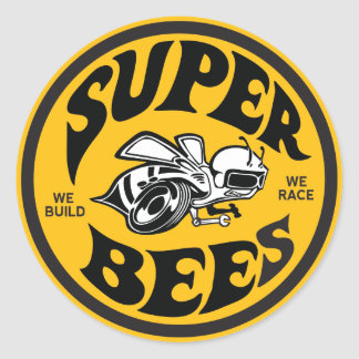 "3"" Super Bees decal Classic Round Sticker"