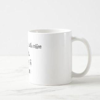 """3 things go good with coffee"" mug"