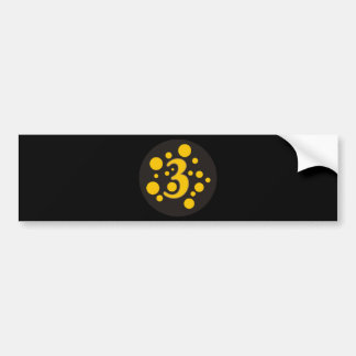 3-Three Bumper Sticker