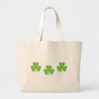 3 three shamrocks jumbo tote bag