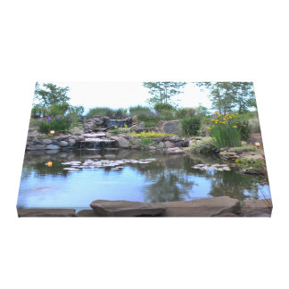 3-Tier Waterfall Koi Pond Canvas Canvas Print