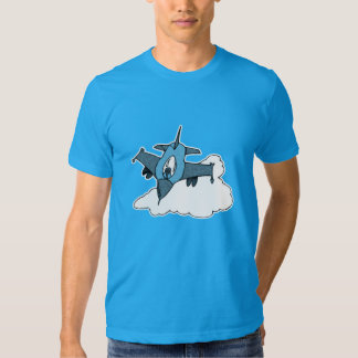 3 Tone Blue F16 Fighting Falcon Fighter Jet T-shirts
