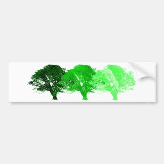3 Trees Silhouette Bumper Sticker